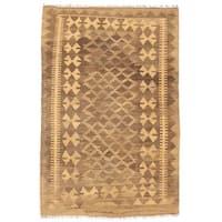 Handmade Herat Oriental Afghan Wool Mimana Kilim (Afghanistan) - 3'2 x 4'9