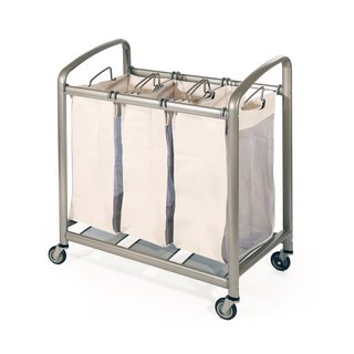 Premium 3-Bag Heavy-Duty Laundry Hamper Sorter Cart