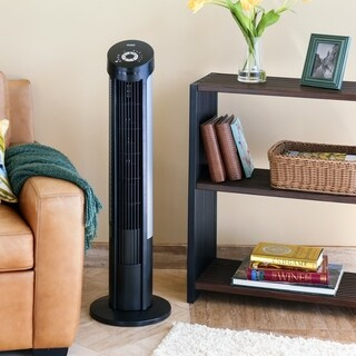 Seville Classics UltraSlimline 40-inch Tower Fan, Black