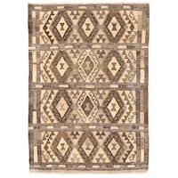 Herat Oriental Afghan Hand-woven Wool Mimana Kilim (3'4 x 4'8)