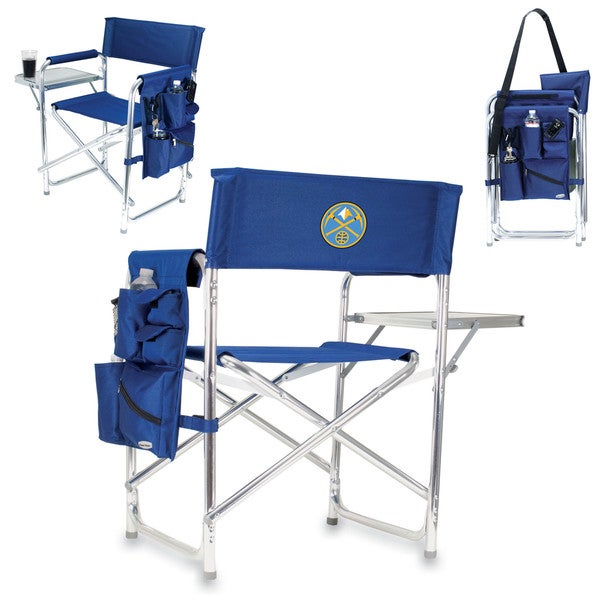 Picnic Time Denver Nuggets Navy Polyester/Aluminum Sports Chair