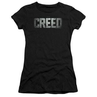 Creed/Logo Junior Sheer in Black in Black