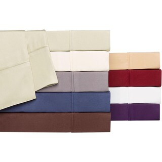 Brielle Solid Rayon from Bamboo Sateen Pillowcase Set (Set of 2)