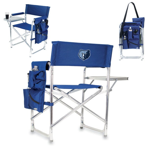 Picnic Time Navy Polyester Memphis Grizzlies Sports Chair
