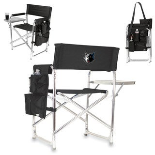 Picnic Time Minnesota Timberwolves Black Sports Chair