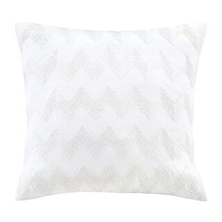 Echo Design Crete White Square Throw Pillow