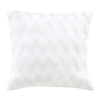 Echo Design Crete White Square Throw Pillow