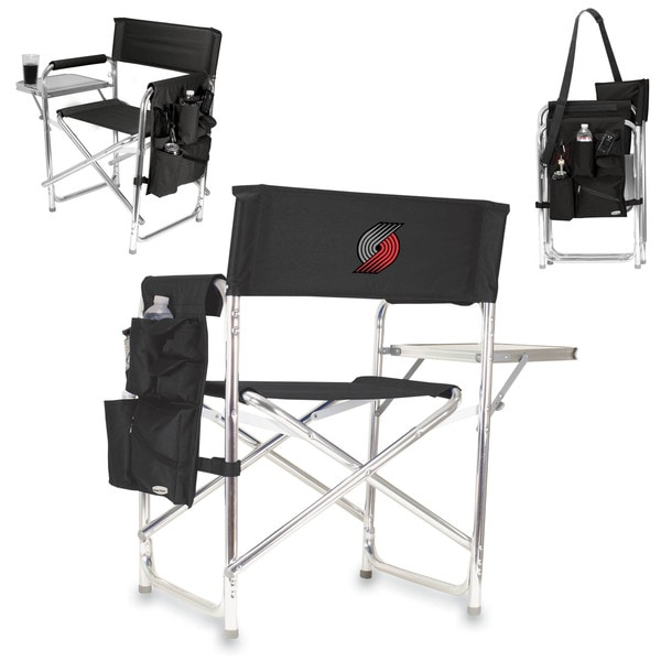 Picnic Time Portland Trailblazers Black Polyester/Aluminum Folding Portable Sports Chair