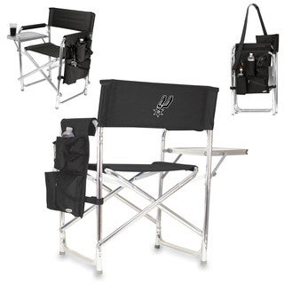 Picnic Time Black San Antonio Spurs Sports Chair