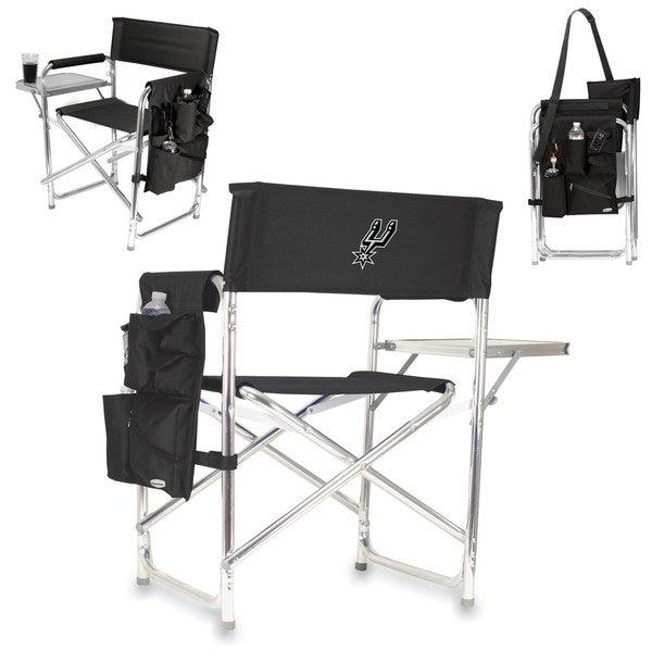 Picnic Time Black San Antonio Spurs Sports Chair