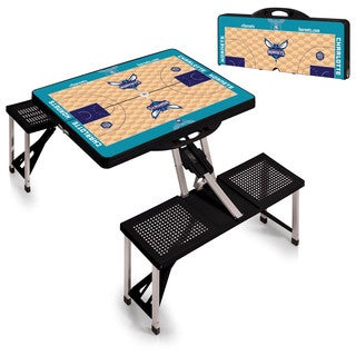 Picnic Time Charlotte Hornets Aluminum/Plastic Portable Picnic Table with Sports Field Design