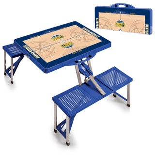 Picnic Time Denver Nuggets Blue Portable Picnic Table