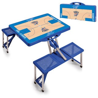 Picnic Time Oklahoma City Thunder Blue Portable Picnic Table