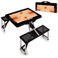 Picnic Time Phoenix Suns Black Aluminum and Plastic Portable Picnic Table