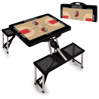 Picnic Time Portland Trailblazers Black Aluminum/Plastic Portable Picnic Table