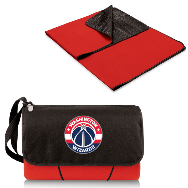 Picnic Time Washington Wizards Polyester Red/Black Blanket Tote