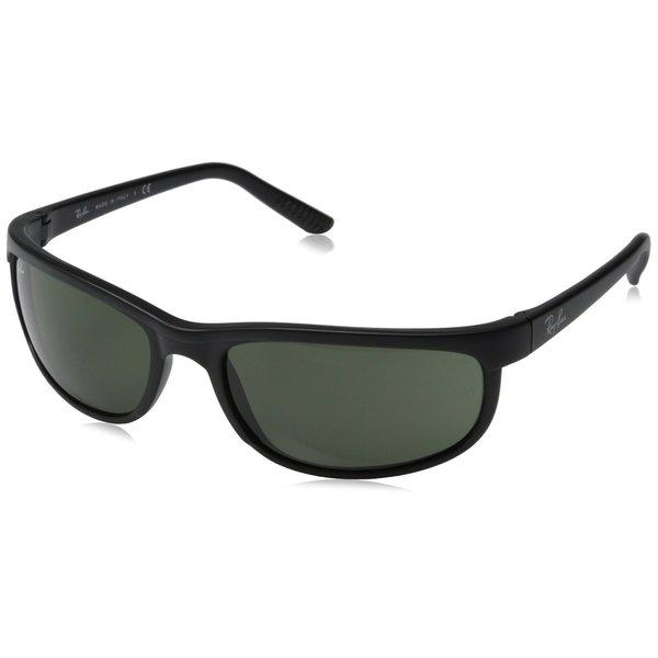 Shop Ray-Ban RB2027 W1847 Predator 2 Black Frame Green Classic 62mm Lens Sunglasses - Free ...
