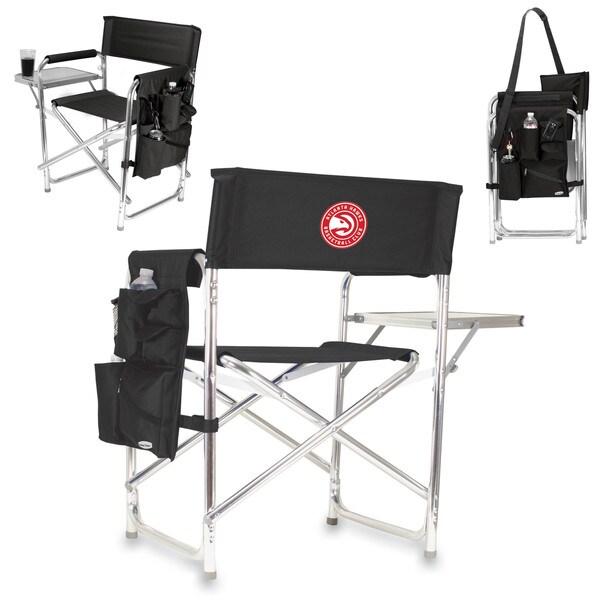 Picnic Time Atlanta Hawks Black Aluminum/Polyester/Rubber Sports Chair