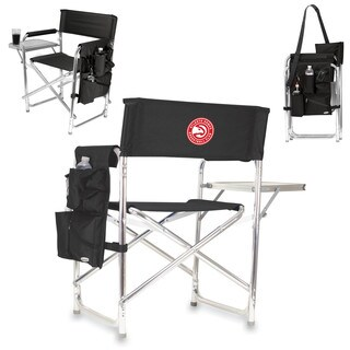 Picnic Time Atlanta Hawks Black Aluminum/Polyester/Rubber Sports Chair
