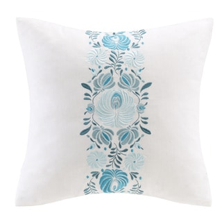 Echo Design Crete White Cotton Square Pillow
