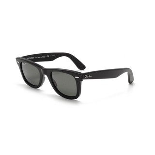 Ray-Ban RB2140 901/58 Original Wayfarer Classic Black Frame Polarized Green Classic 54mm Lens Sunglasses
