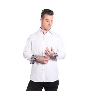 Men's Elie Balleh Milano Italy Paisley Cuff Slim Fit Shirt