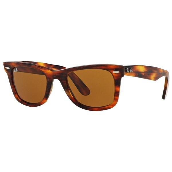 70636f14c1 Ray-Ban RB2140 1186 Original Wayfarer Distressed Tortoise Frame Brown  Classic 50mm Lens Sunglasses
