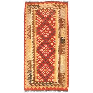 Herat Oriental Afghan Hand-woven Wool Mimana Kilim (3'3 x 6'7)