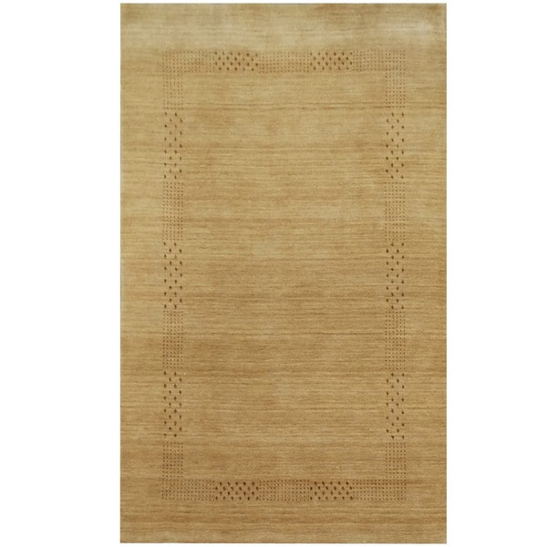 Handmade One-of-a-Kind Gabbeh Wool Rug (India) - 3' x 5'. Opens flyout.