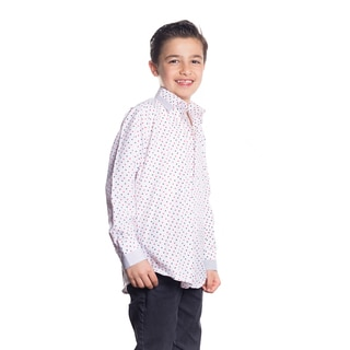 Elie Balleh Boy's Milano Italy Multicolored Polka Dot Slim-fit Shirt