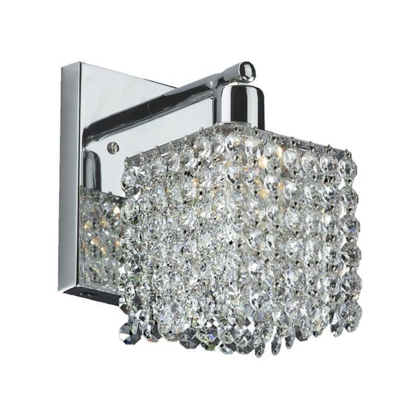 2d06d039e8397 Shop Crystal Rain 1-Light Chrome Wall Sconce - Free Shipping Today -  Overstock.com - 11930088