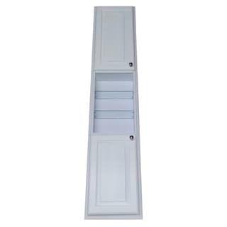 Barbados Recessed White Enamel-finished 78-inch Pantry Storage Cabinet