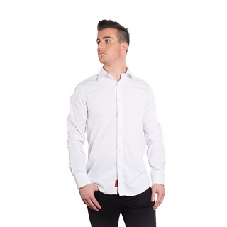 Elie Balleh Milano Italy Men's Solid White Slim-fit Shirt