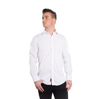 Elie Balleh Milano Italy Men's Solid White Slim-fit Shirt