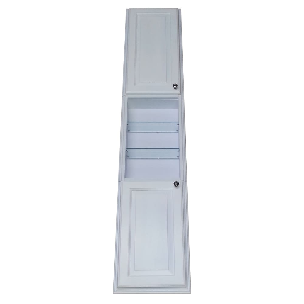 WG Wood Products Barbados White Enamel Finished 78-inch R...