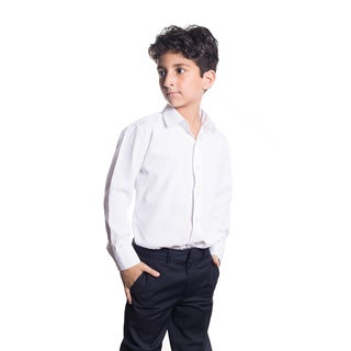 Elie Balleh Boy's Milano Italy Solid White Slim-fit Shirt