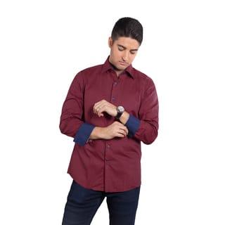 Elie Balleh Men's Milano Italy Check Slim-fit Shirt|https://ak1.ostkcdn.com/images/products/11930116/P18819471.jpg?impolicy=medium