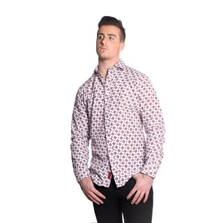 Elie Balleh Men's Milano Italy Ornate Print Slim Fit Shirt