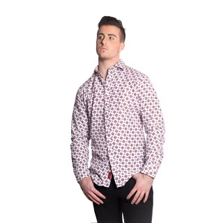 Elie Balleh Men's Milano Italy Ornate Print Slim Fit Shirt