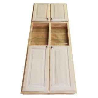 Barcelona 78-inch Recessed Pantry Storage Cabinet with 3.5-inch Deep Open Shelf