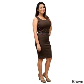 Women's Polyester Sleeveless Scoop-neck Dress