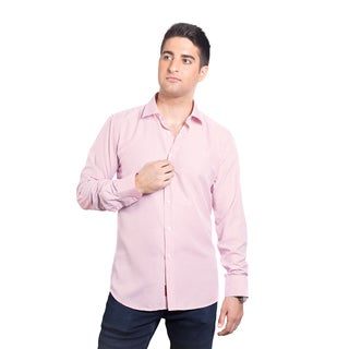 Elie Balleh Men's Milano Italy Dot Rayon and Polyester Slim-fit Shirt