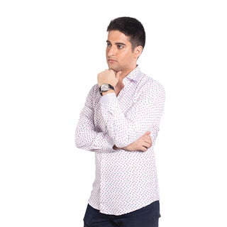 Elie Balleh Men's Milano Italy Polyester and Rayon Slim-fit Shirt