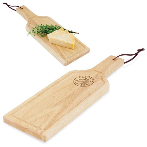 Picnic Time Toronto Raptors Wood Botella Cheese Board