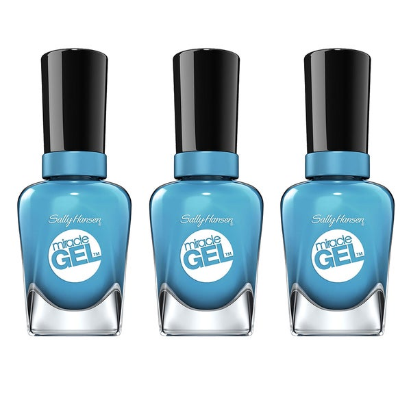 Shop Sally Hansen Miracle Gel Rhythm & Blue Nail Polish (Pack of 3 ...