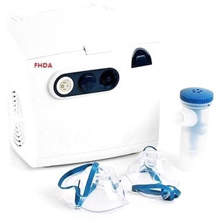 FHDA Compact Compressor Nebulizer with Reusable Adult Mask, Child Mask, and Mouthpiece