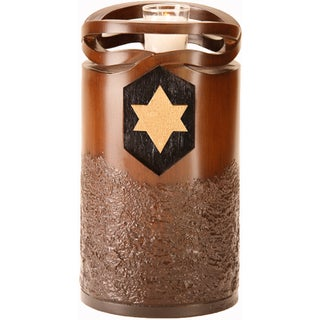 Stephen Canneto Infinity Wood Resin Urn With Jewish Star