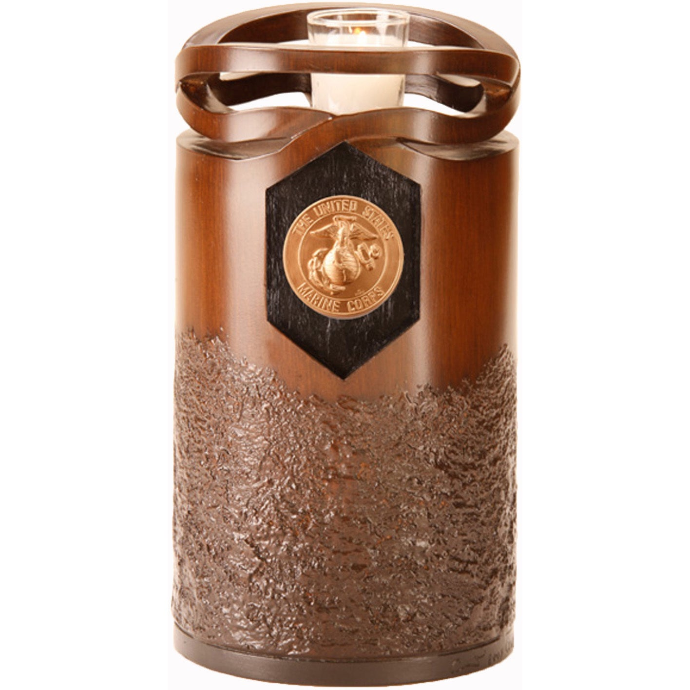 Urns by Canneto Infinity Wood Resin Marine Corps Urn