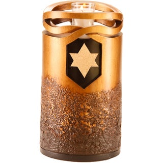 Urns by Canneto Infinity Bronze Resin Urn with Jewish Star