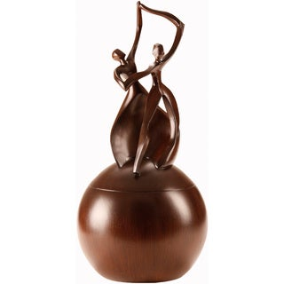 Urns by Canneto Dance of Life Wood Resin Companion Urn